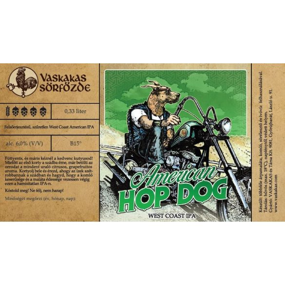 American Hop Dog sör 50L KEG (alc. 6,0%)
