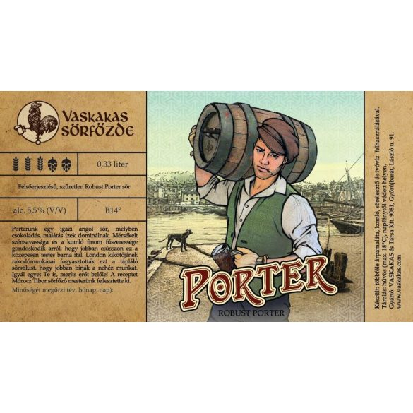 Porter sör 30L KEG (alc. 5,5%)