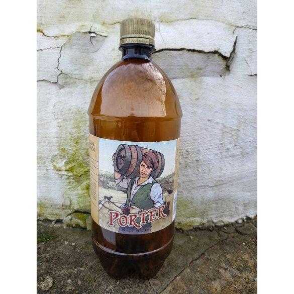 Porter sör 1l PET Palack frissen csapolva (alc. 5,5%) Csak Győrújbarát, Nyúl, Győr területére szállítjuk ki.
