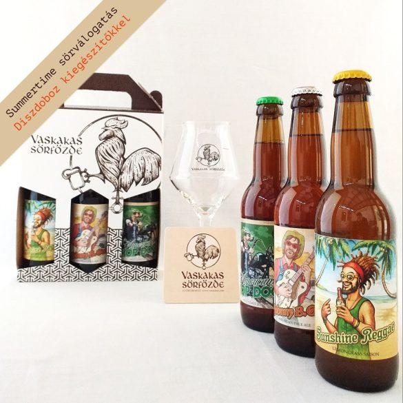Summertime XL ajándékcsomag (pohárrral és söralátéttel)
