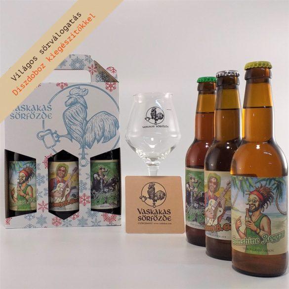 White Christmas XL ajándékcsomag (pohárrral és söralátéttel)