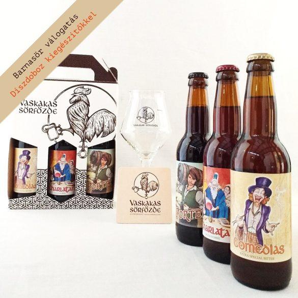Barnasör XL ajándékcsomag (pohárrral és söralátéttel)