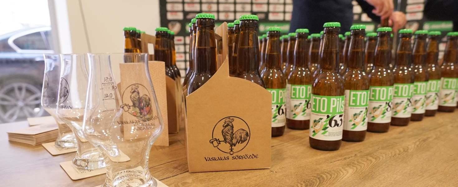 Egyedi címkékkel hódítana az ETO saját söre