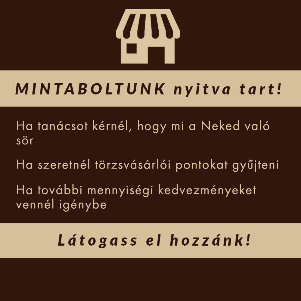 MINTABOLTUNK TOVÁBBRA IS NYITVATART